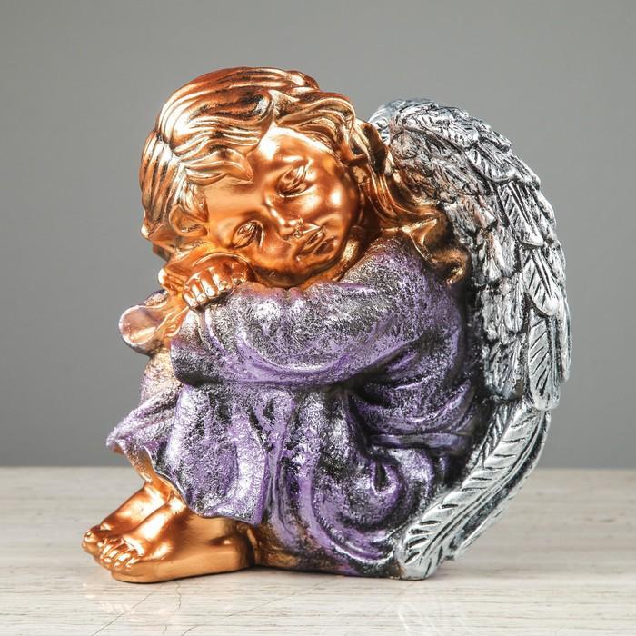 """Статуэтка """"Ангел спящий"""", бронза, цветная"""