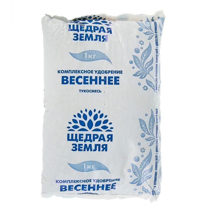 """Удобрение минеральное сухое Щедрая земля НЦС тукосмесь """"Весеннее"""", 1кг"""