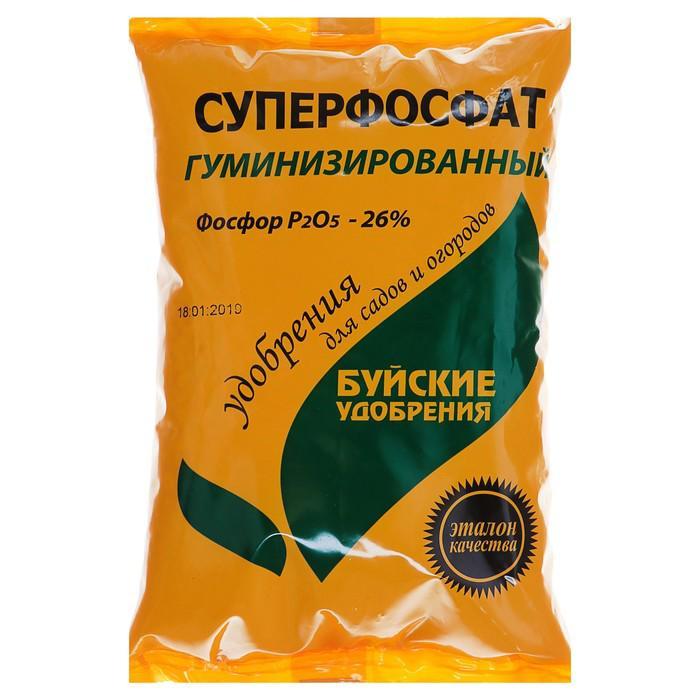 Удобрение минеральное Суперфосфат гуминизированный, 0,9 кг