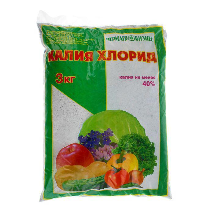 Удобрение минеральное Калия хлорид, 3 кг