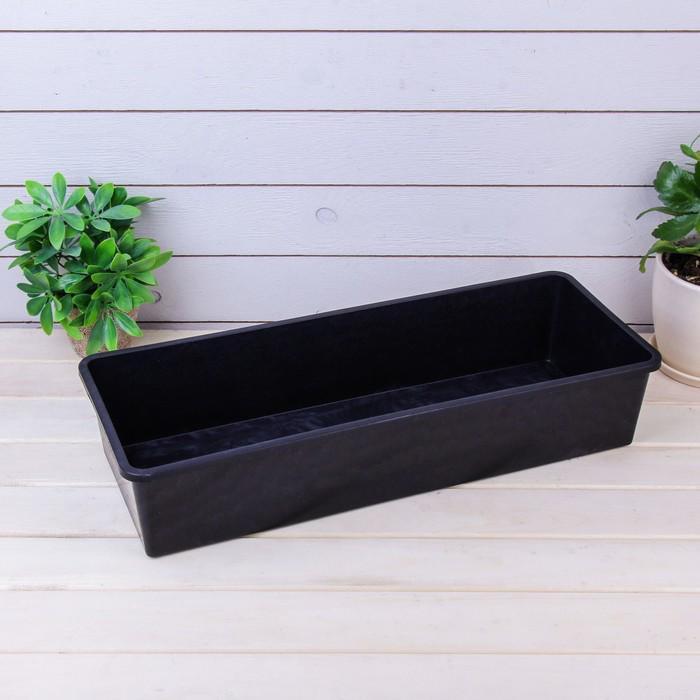 Ящик для рассады, 50 × 20 × 10 см, чёрный, «№1»