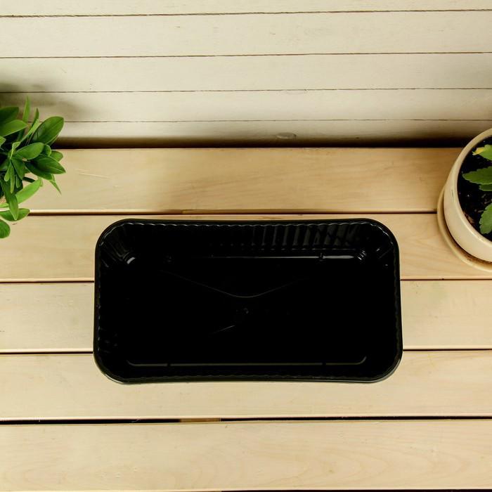 Ящик для рассады, 28,5 × 15,5 × 8,5 см, коричневый