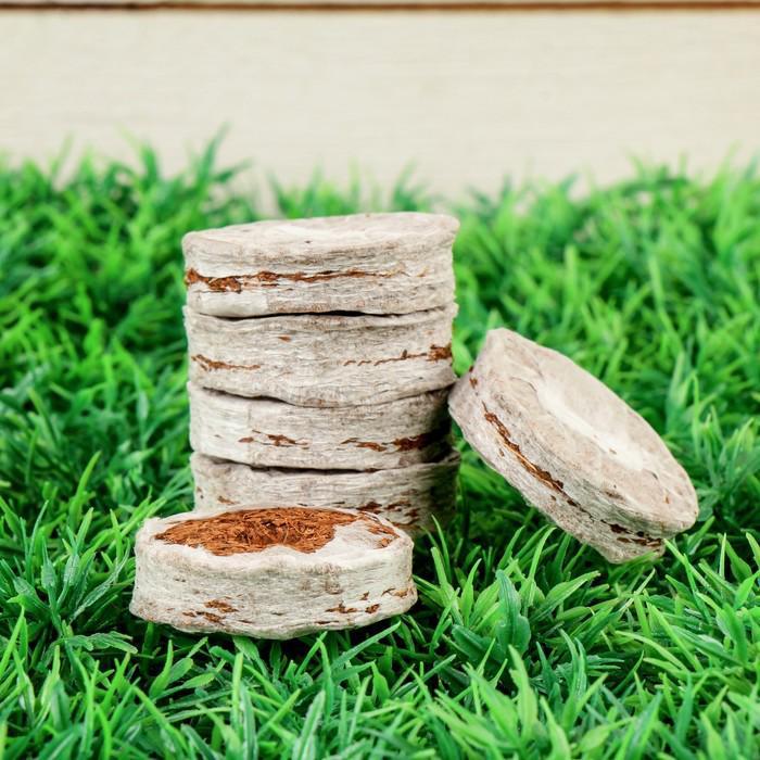 Таблетки кокосовые, в оболочке, d = 3,8 см, набор 6 шт.