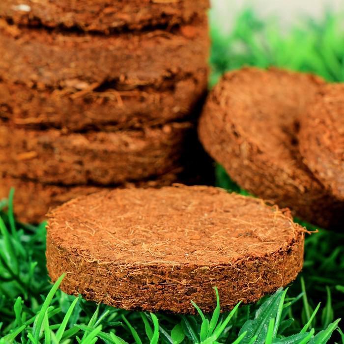 Таблетки кокосовые, d = 4 см, набор 10 шт.