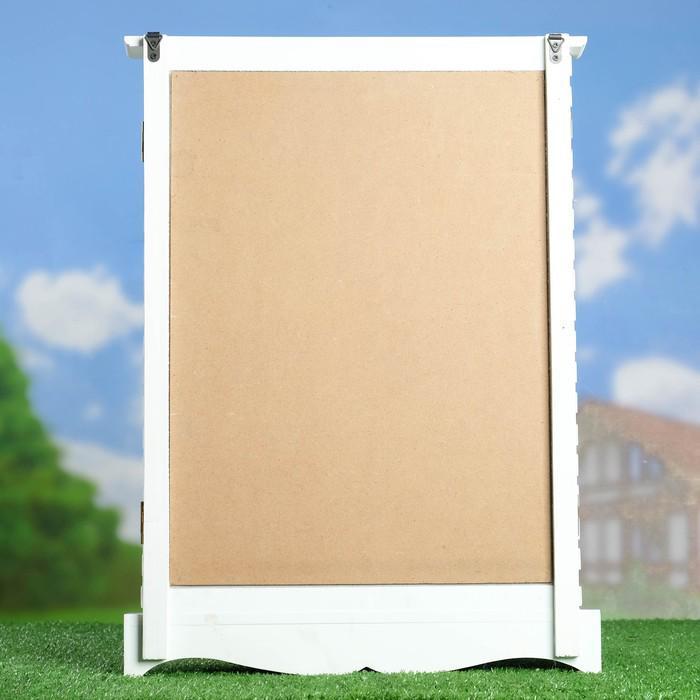 Окно декоративное с доской для рисования мелом 33*46 см