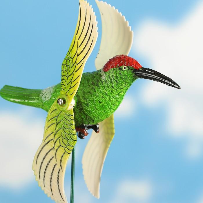 """Декоративный штекер """"Колибри"""" с крутящимися крыльями, микс"""