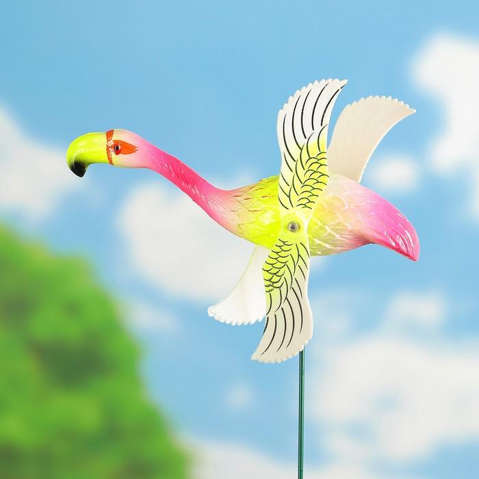"Декоративный штекер ""Фламинго"" с крутящимися крыльями, микс"