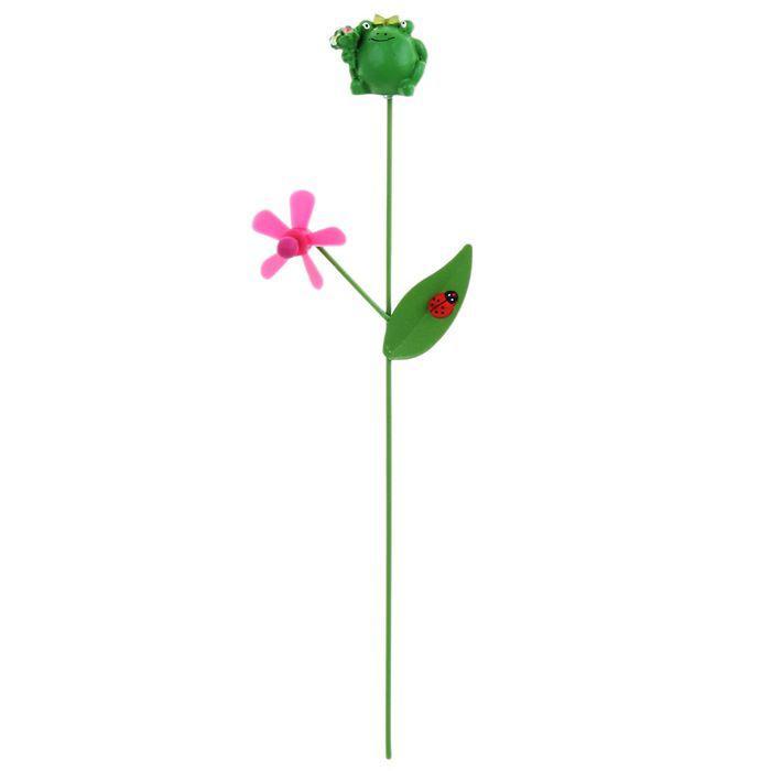 """Декоративный штекер для комнатных растений """"Лягушка"""""""