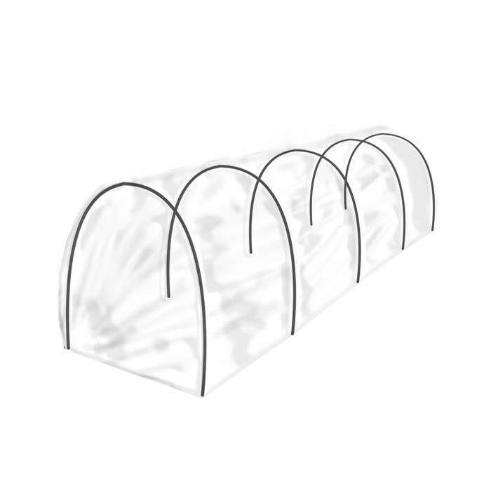 Парник, длина 5 м, 15 дуг из стеклопластика, диаметр 6 мм, укрывной материал 17 г/м²