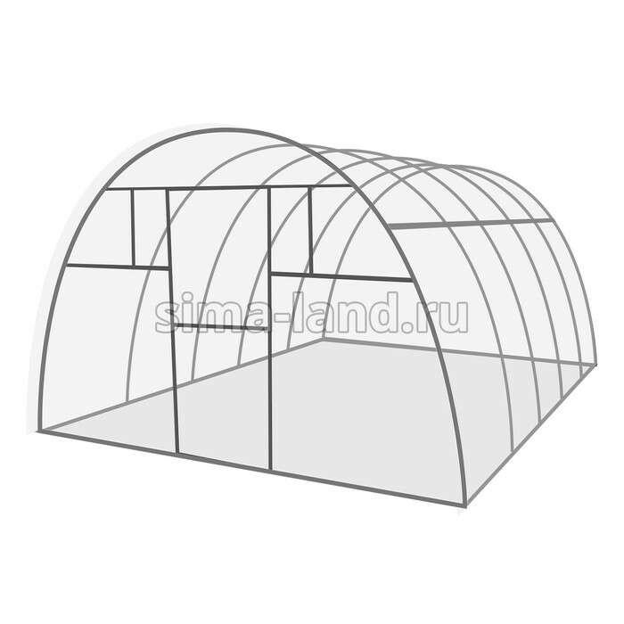 Каркас теплицы «Комфорт», 6 × 3 × 2,1 м, оцинкованная сталь, профиль 20 × 20 мм, без поликарбоната,