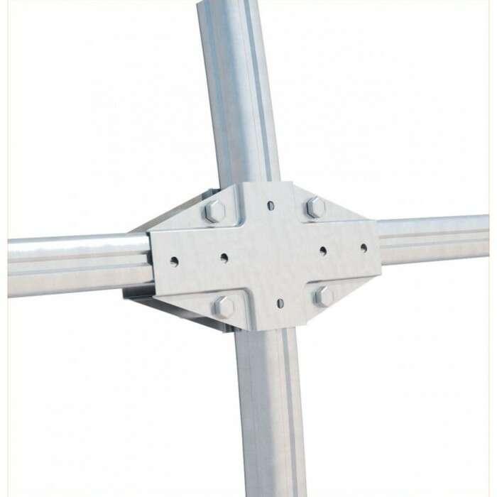 Каркас теплицы «Гарант», 4 × 3 × 2,1 м, оцинкованная сталь, без поликарбоната