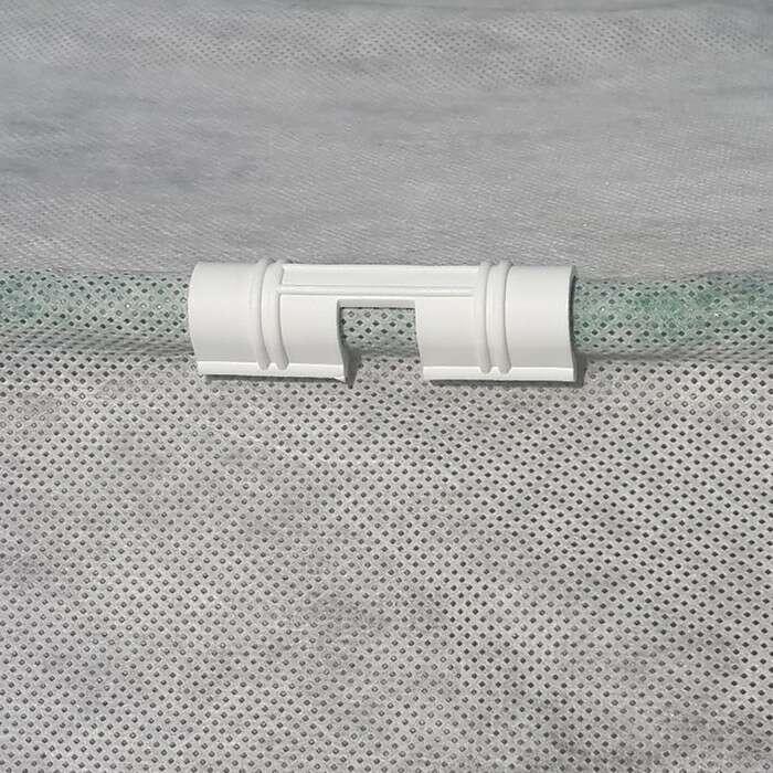 Зажим для крепления плёнки d = 2 см, цвет белый, набор 10 шт.