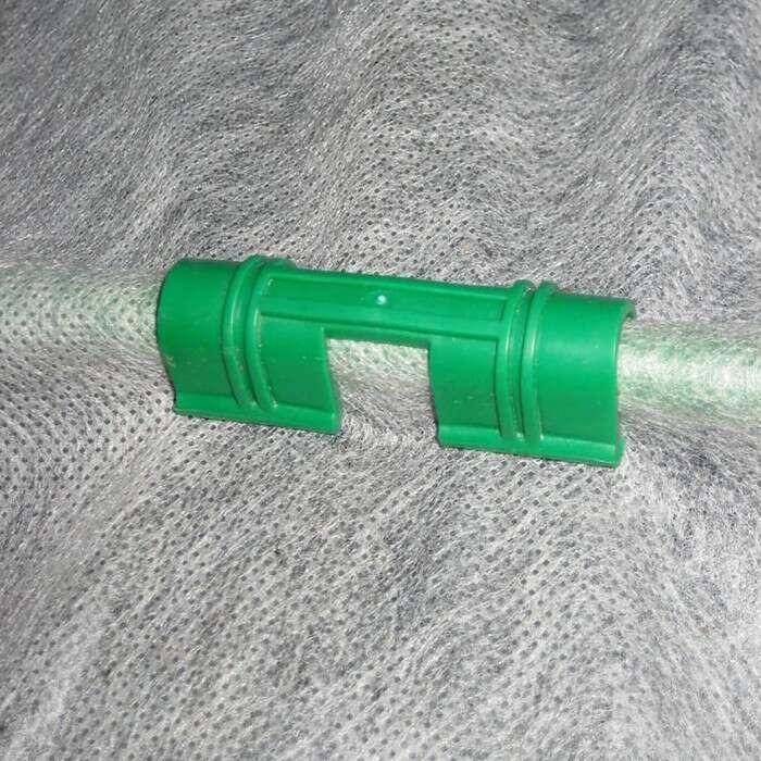 Зажим для крепления плёнки d = 1,2 см, цвет зелёный, набор 20 шт.