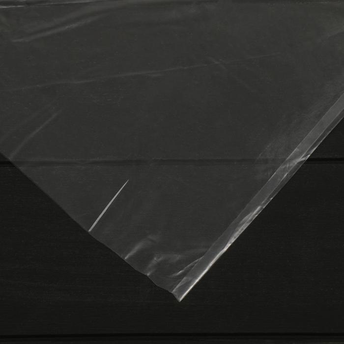 Плёнка полиэтиленовая, толщина 60 мкм, 3 × 5 м, рукав, прозрачная, 1 сорт, ГОСТ 10354-82