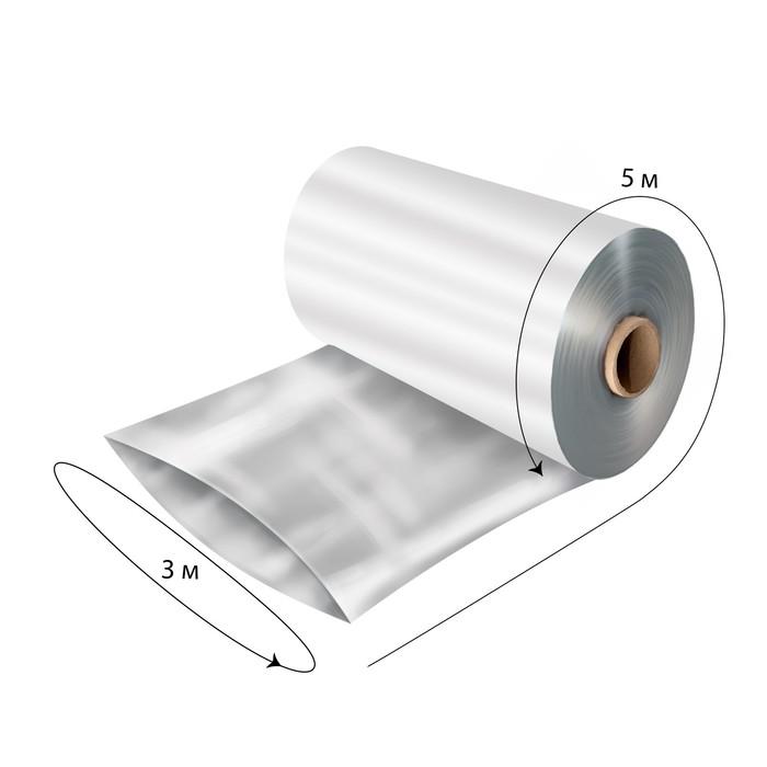 Плёнка полиэтиленовая, толщина 100 мкм, 3 × 5 м, рукав, прозрачная, 1 сорт, ГОСТ 10354-82