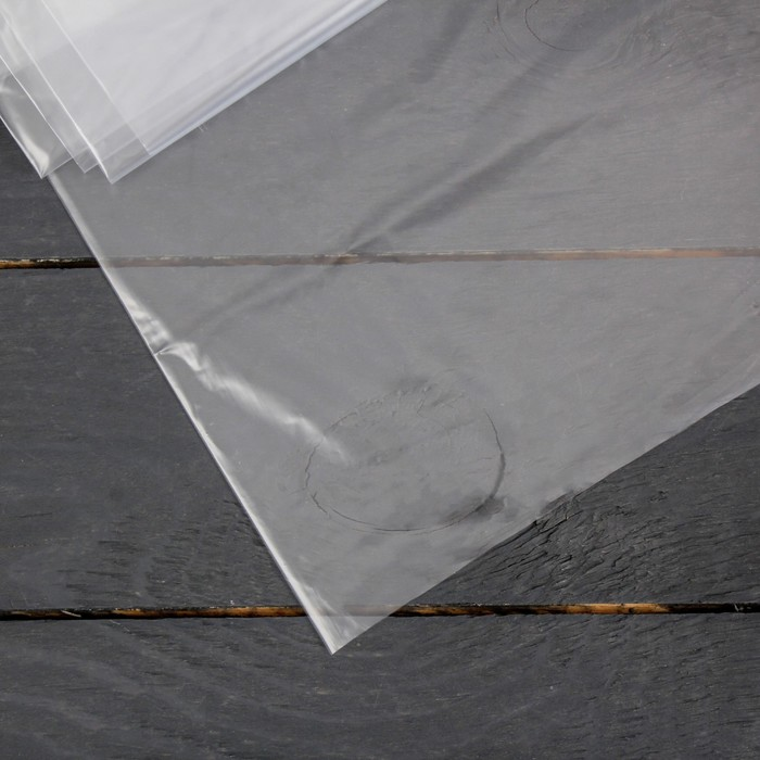 Плёнка полиэтиленовая, толщина 60 мкм, 3 × 5 м, рукав, прозрачная, Эконом