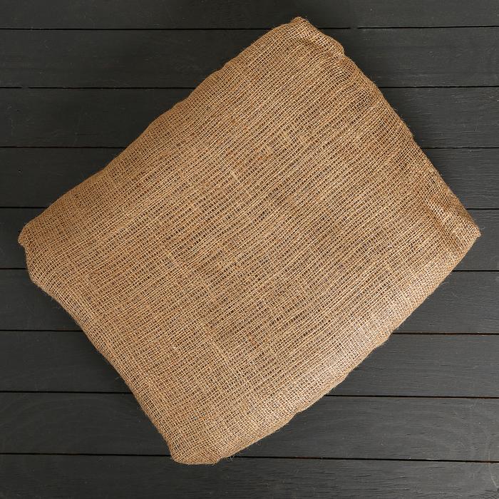 Материал джутовый, 1,1 × 10 м, плотность 215 г/м², плетение 34/32