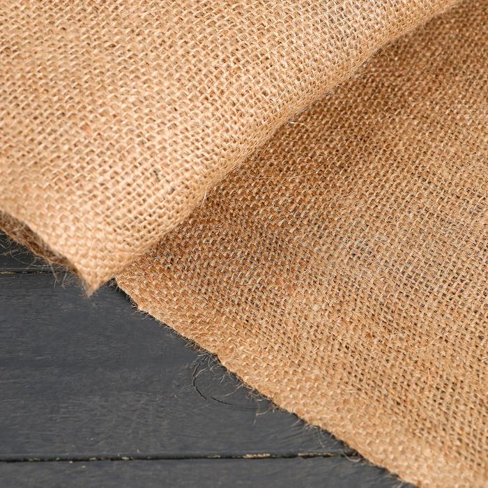 Материал джутовый, 1,1 × 10 м, плотность 260 г/м², плетение 46/40