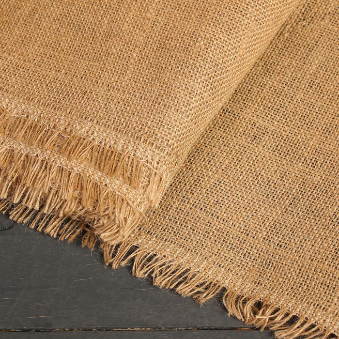 Материал джутовый, 1,06 × 10 м, плотность 315 г/м², плетение 46/54