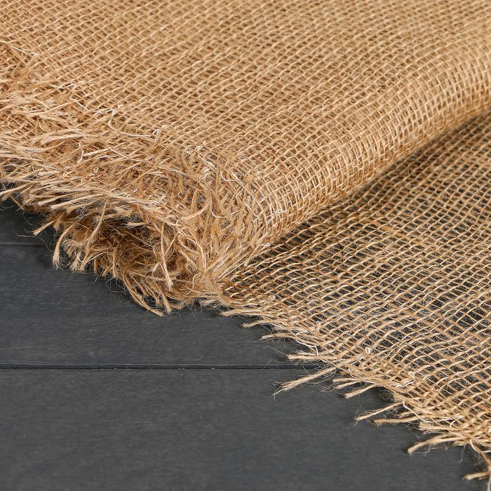 Материал джутовый, 0,95 × 5 м, плотность 190 г/м², плетение 34/24