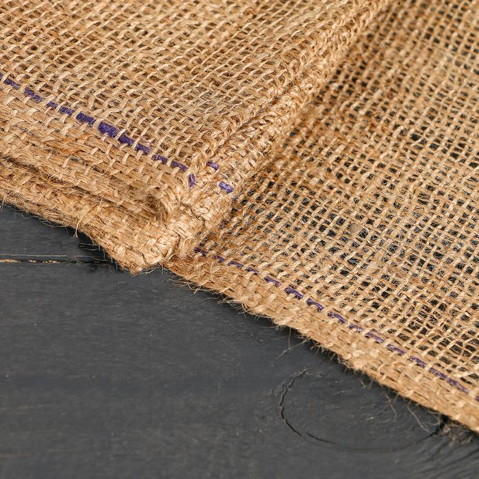 Материал джутовый, 1,1 × 5 м, плотность 215 г/м², плетение 34/32