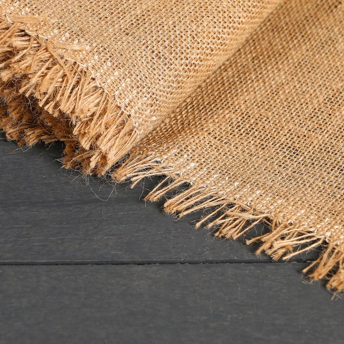 Материал джутовый, 1,06 × 5 м, плотность 315 г/м², плетение 46/54