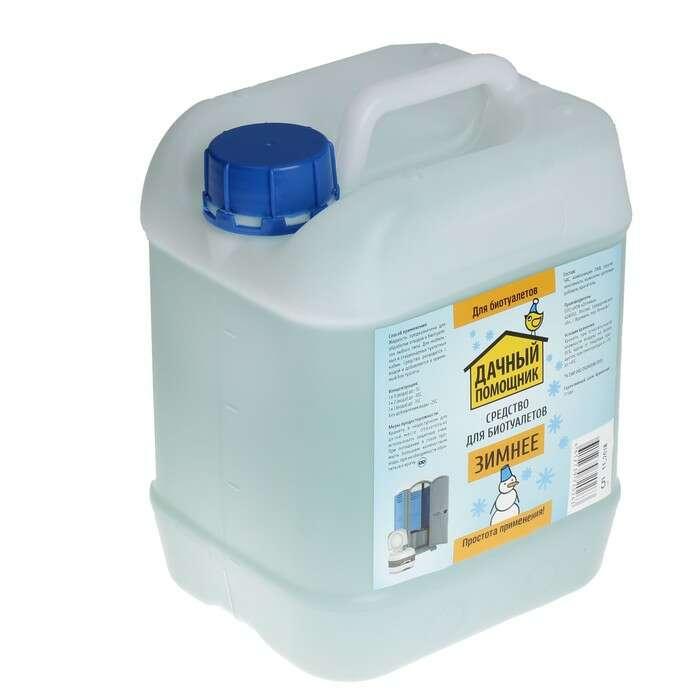 Жидкость для биотуалета «Дачный помощник», 5 л, для нижнего бака, зимняя
