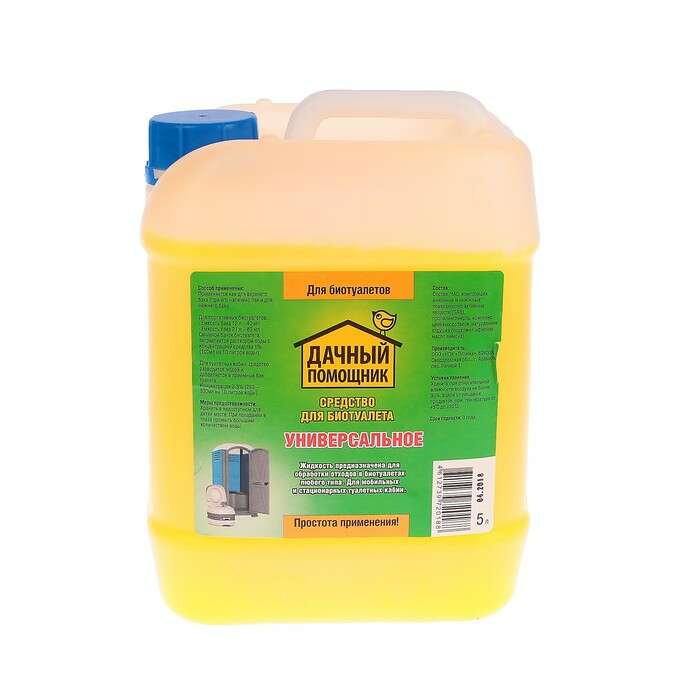Жидкость для биотуалета «Дачный помощник», 5 л, универсальная