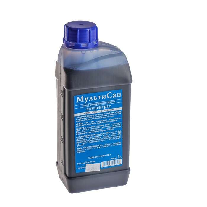 Жидкость для биотуалета «Мультисан», 1 л, концентрат, универсальная