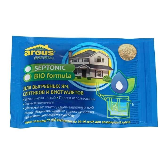 Cр-во для выгребных ям, септиков, биотуалетов ARGUS GARDEN 4 пакета*71 гр ЗИП ПАКЕТ
