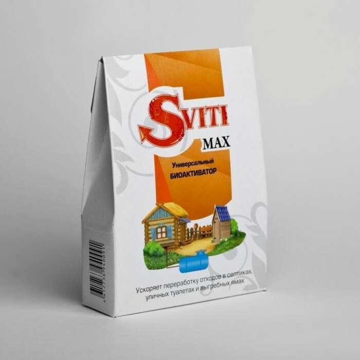 Биоактиватор SVITI MAX для обработки дачных туалетов, септиков, отстойников, выгребных ям, 80 г