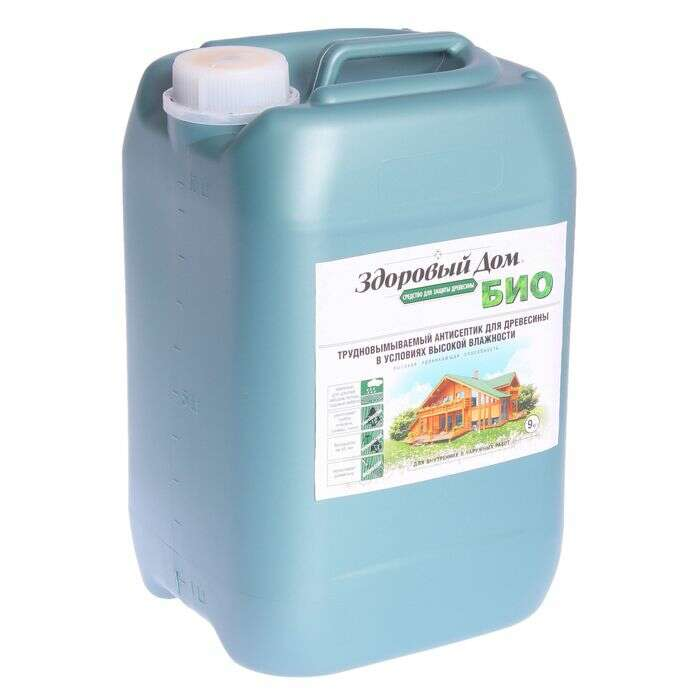 Трудновымываемый антисептик для древесины в условиях высокой влажности, 9кг