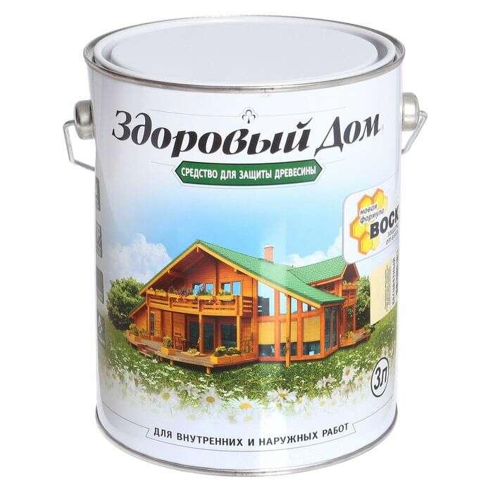 Средство для защиты древесины, бесцветный, 3 л