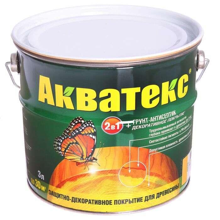 """Грунт-антисептик """"Акватекс"""", сосна, 3 л"""