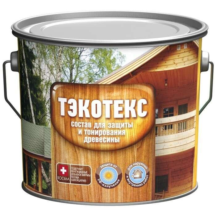 Состав ТЭКОТЕКС для защиты и тонирования древесины ясень, ведро 7,6 кг