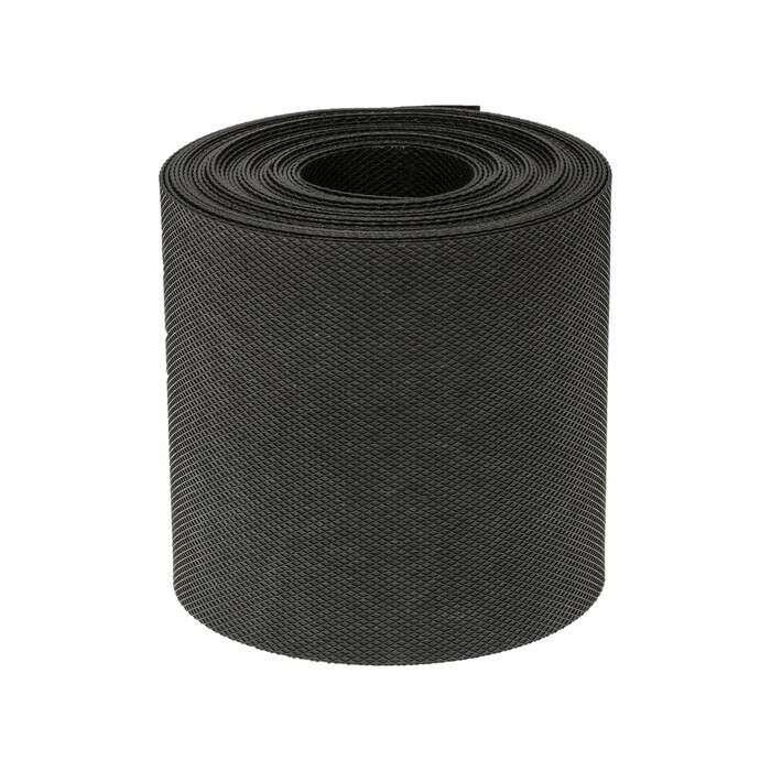 Лента бордюрная, 0.15 × 10 м, толщина 1.35 мм, пластиковая, чёрная