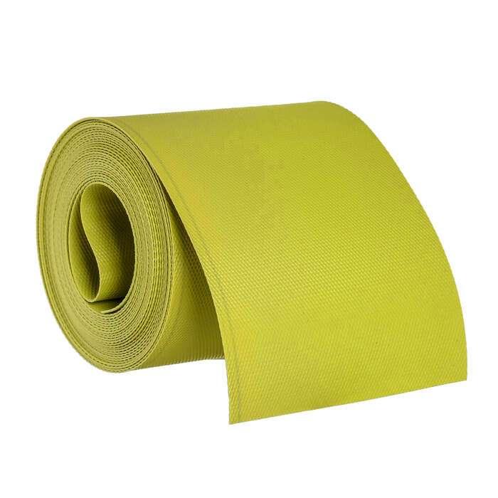 Лента бордюрная, 0.15 × 9 м, толщина 1.2 мм, пластиковая, жёлтая