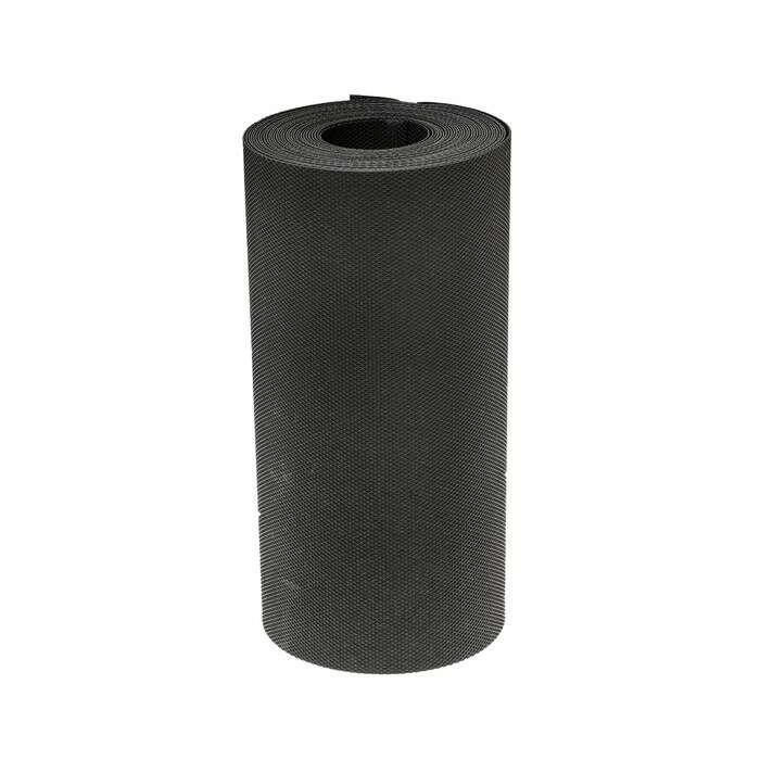 Лента бордюрная, 0.3 × 10 м, толщина 1.35 мм, пластиковая чёрная