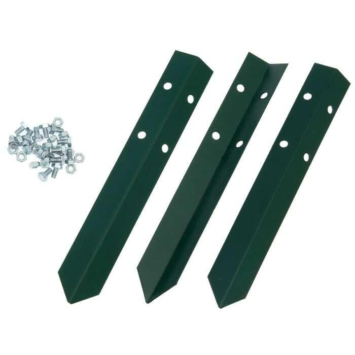 Клумба оцинкованная, 2 яруса, d = 60 – 80 см, h = 30 см, зелёная