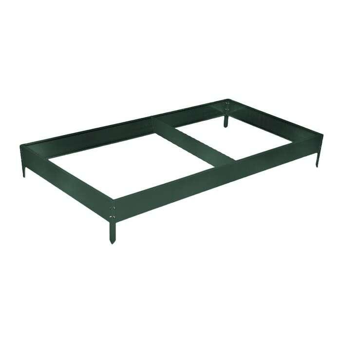 Грядка оцинкованная, 390 × 100 × 15 см, цвет зелёный мох, Greengo