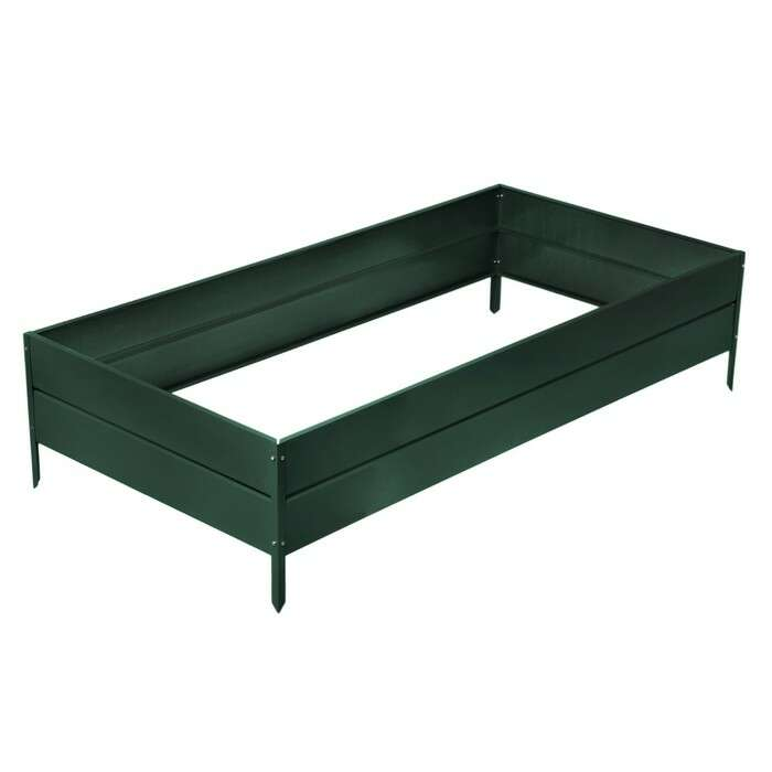 Грядка оцинкованная, 200 × 100 × 34 см, зелёная