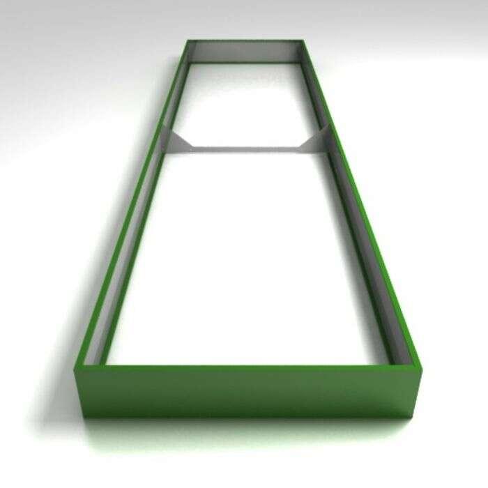 Грядка оцинкованная, 400 × 100 × 17 см, зелёная