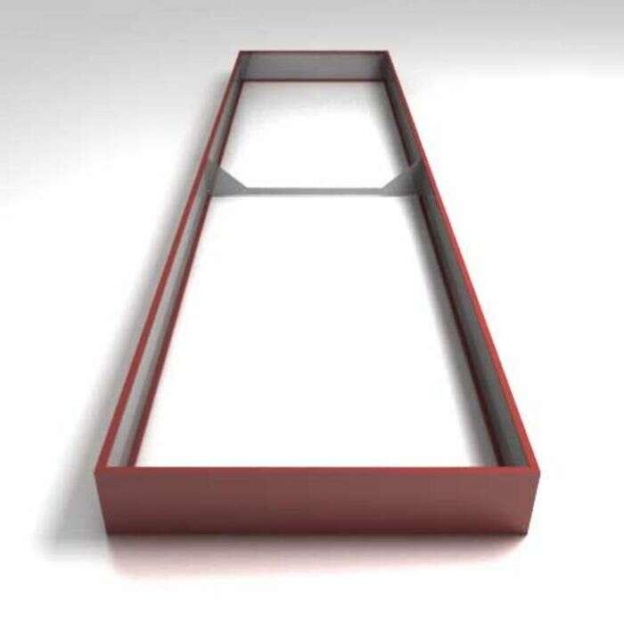 Грядка оцинкованная, 400 × 100 × 17 см, красная