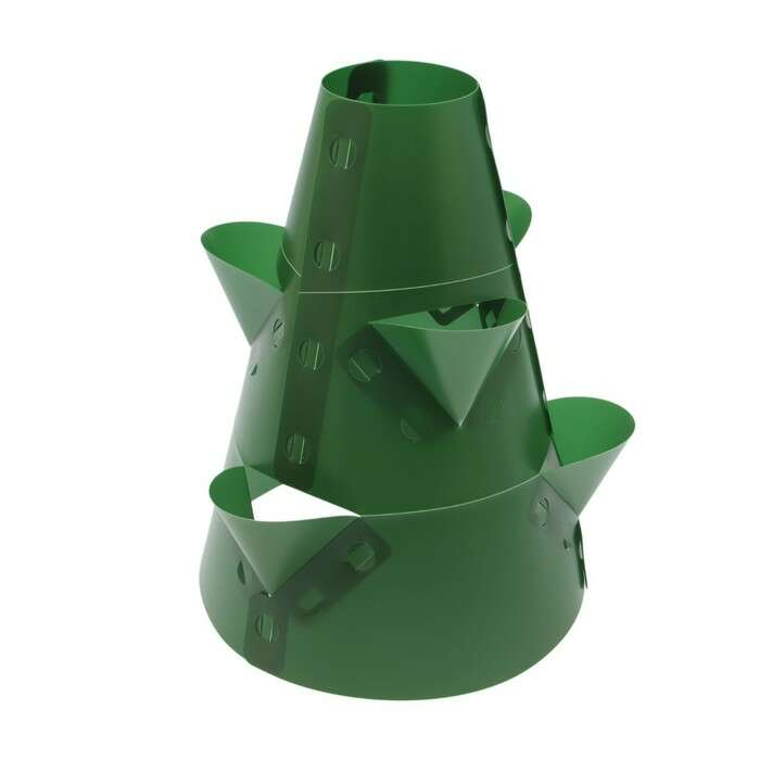 Клумба конусная, d = 15 – 45 см, h = 60 см, зелёная