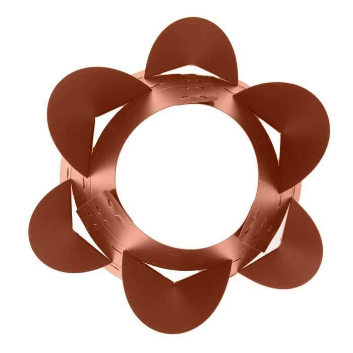 Клумба конусная, d = 15 – 45 см, h = 60 см, коричневая