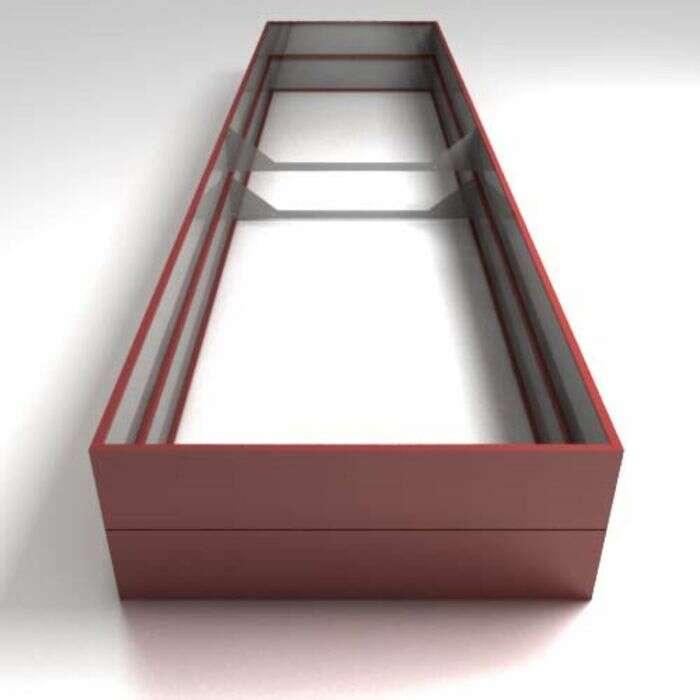 Грядка оцинкованная, высокая, 400 × 100 × 34 см, красная