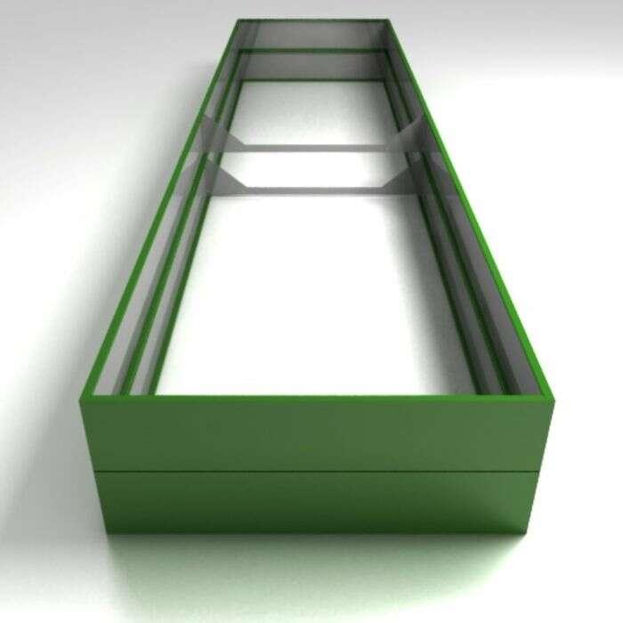 Грядка оцинкованная, 390 × 100 × 34 см, зелёная