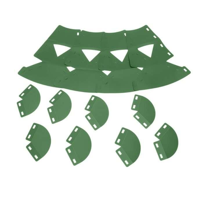 Клумба конусная, d = 20 – 60 см, h = 60 см, зелёная