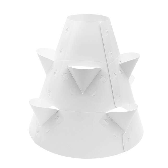 Клумба конусная, d = 20 – 60 см, h = 60 см, белая