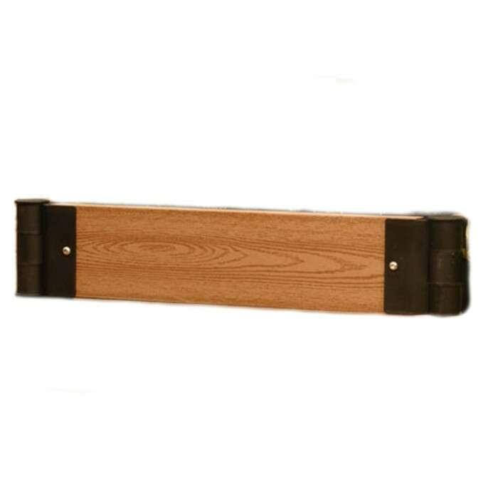 Бортик для грядки, 110 × 15 × 2.5 см, пластик, фактура древесины, коричневый